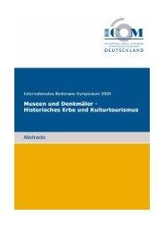 Abstracts der Tagung (.pdf) - ICOM Deutschland