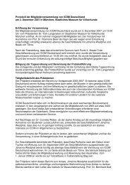 Protokoll der Mitgliederversammlung 2007 (.pdf) - ICOM Deutschland