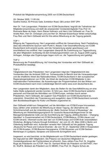 Protokoll der Mitgliederversammlung ICOM Deutschland 2005 (.pdf)