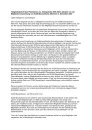 Tätigkeitsbericht 2005-2007 (.pdf) - ICOM Deutschland
