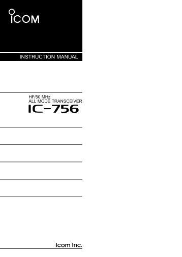 IC-756 - ICOM Canada