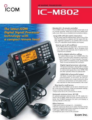 Icom ic m802 installation Manual