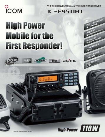 Photo includes optional SP-30. - ICOM Canada