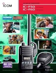 VHF AND UHF TRANSCEIVERS - ICOM Canada