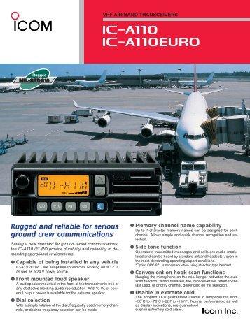 IC-A110 Brochure - ICOM Canada