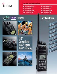 IC-F3161 / F4161 - ICOM Canada