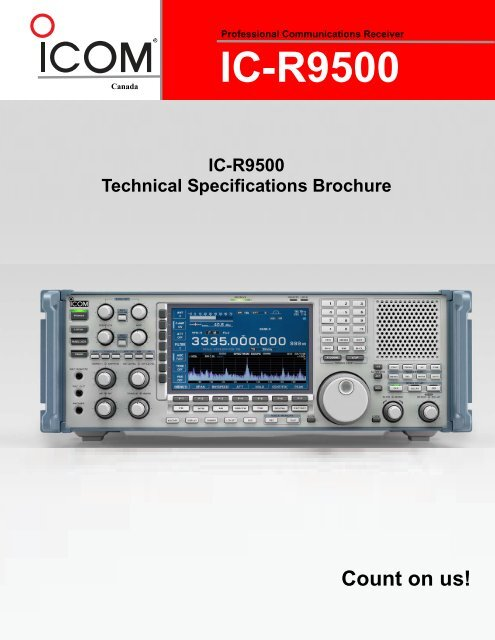 Professional Communications Receiver IC-R9500 - ICOM Canada