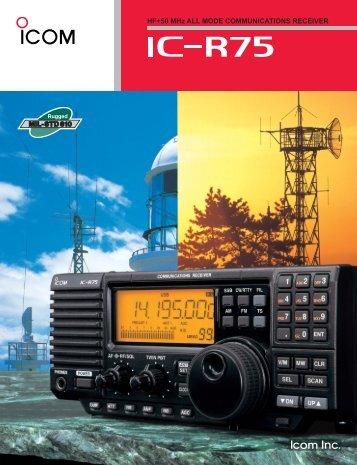 HF+50 MHz ALL MODE COMMUNICATIONS ... - ICOM Canada