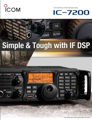 * The above photo includes optional MB-116 handles. - ICOM Canada