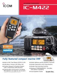 Fully featured compact marine VHF - ICOM Canada
