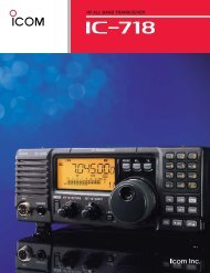 High Power Dual Bander with Wideband Receiver     - ICOM Canada