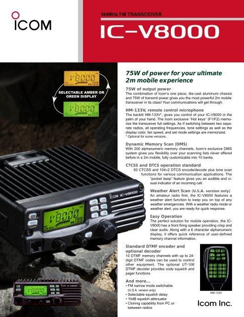 IC-V8000 Brochure  PDF - ICOM Canada