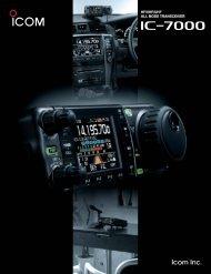 hf/vhf/uhf all mode transceiver hf/vhf/uhf all mode ... - ICOM Canada
