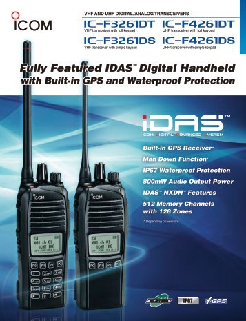Fully Featured IDAS™ Digital Handheld with Built-in ... - ICOM Canada