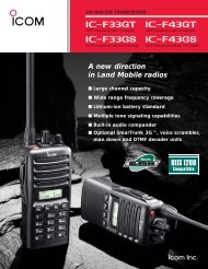 A new direction in Land Mobile radios - ICOM Canada