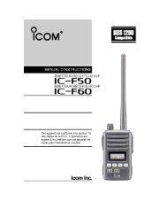Cet appareil est conforme à la section 15 des règles ... - ICOM Canada