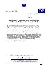 Rat empfiehlt die Ernennung von Sabine Lautenschläger zum ...