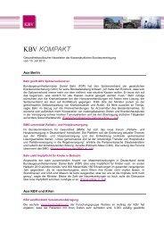 98 KB - Kassenärztliche Bundesvereinigung