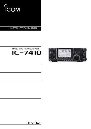 IC-7410 Instruction Manual - ICOM Canada