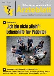"""PDF-Gesamtausgabe 2013 / 05 - Schleswig-Holsteinisches Ã""""rzteblatt"""