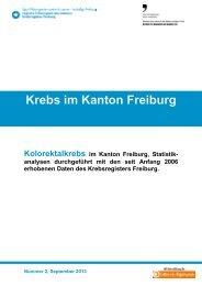Krebs im Kanton Freiburg - Krebsliga Schweiz