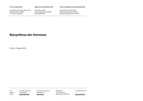 Hormon Synthese - Ever.ch