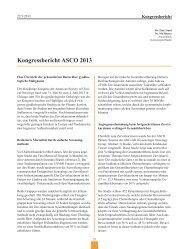 Kongressbericht ASCO 2013 - Frauenheilkunde aktuell