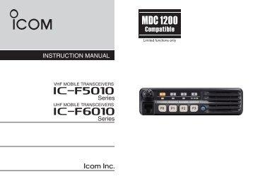 IC-F5020_F6020 series Instruction Manual - ICOM Canada
