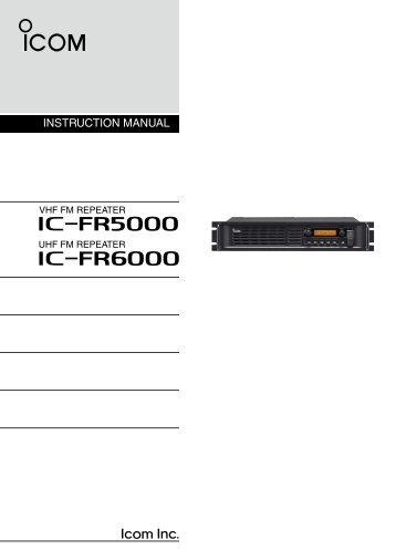 IC-FR5000_IC-FR6000 Instruction Manual - Icom Australia