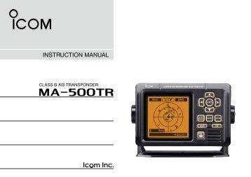 MA-500TR Instruction Manual - ICOM Canada
