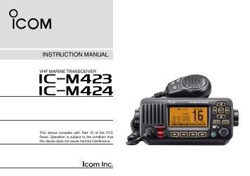 Instruction Manual - ICOM Canada