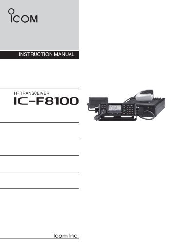 Instruction Manual (PDF) - ICOM Canada