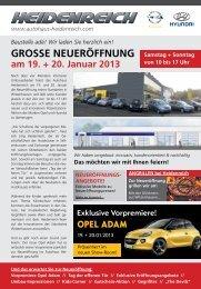 GROSSE NEUERÖFFNUNG - Autohaus Heidenreich
