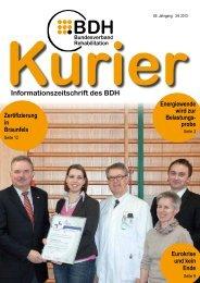 Kurier 3/4 2013 - BDH Bundesverband Rehabilitation