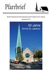 Pfarrbrief - St. Jakobus Versbach
