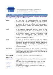 SKR/ SCR Weiterbildungskurs - ICOMOS Schweiz