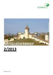 mitgliederbrief 2/2013 - ICOMOS Schweiz