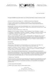 Protokoll MV2010 (pdf) - ICOMOS Schweiz