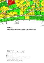 ICOMOS Liste historischer Gärten und Anlagen der Schweiz