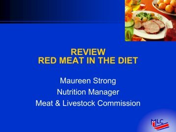 What is red meat? - ICoMST Contact Point