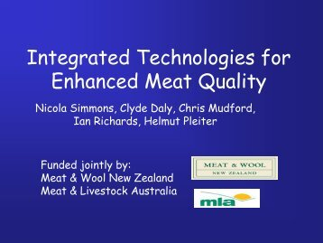 Integrated Technologies for Enhanced Meat Quality - ICoMST ...