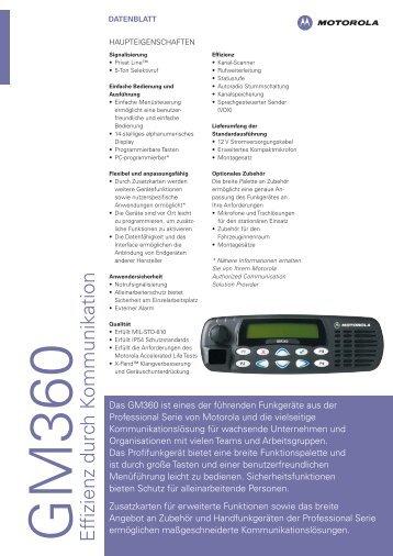 GM360 Effizienz durch K ommunikation - Motcom Communication AG