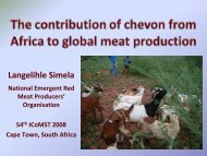 The contribution of from Africa to global meat production - ICoMST ...