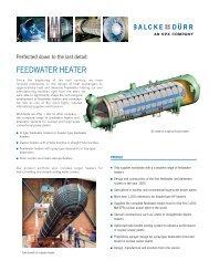 FEEDWATER HEATER - Balcke-Dürr
