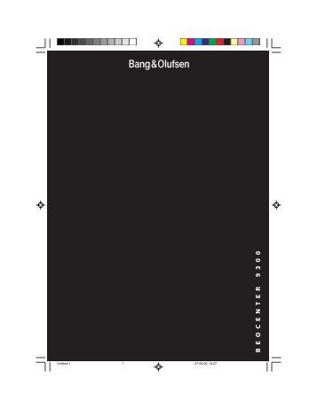 BEOCENTER 9300 - Iconic AV