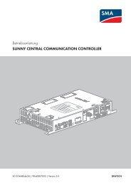 sunny central communication controller - SMA Solar Technology AG
