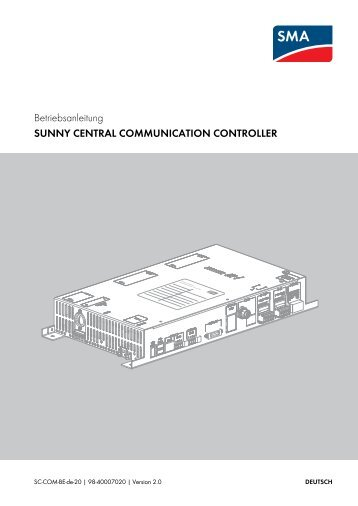sunny central communication controller - SMA Solar Technology AG