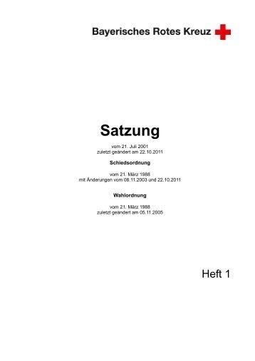 Satzung - Bayerisches Rotes Kreuz