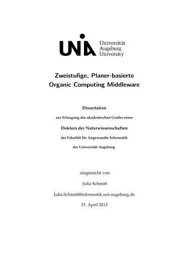 DissertationSchmittJulia.pdf - OPUS - Universität Augsburg