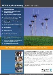 TETRA Media Gateway - hagedorn infosysteme
